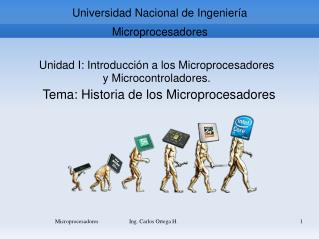 Universidad Nacional de Ingeniería Microprocesadores