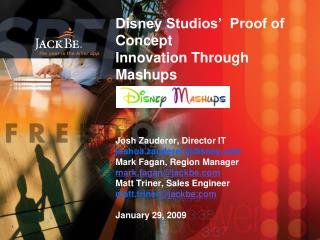 The Need for Mashups at Disney Studios