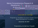 Maine Comprehensive Research  Development Evaluation  Innovation Index  Overview  Findings