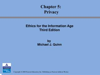 Chapter 5:  Privacy