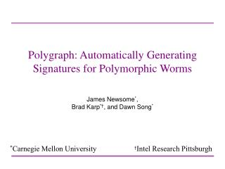 Polygraph: Automatically Generating Signatures for Polymorphic Worms