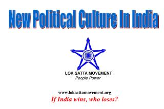 loksattamovement If India wins, who loses?