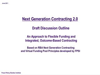 Next Generation Contracting 2.0