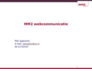 MM2 webcommunicatie