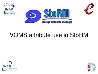 VOMS attribute use in StoRM