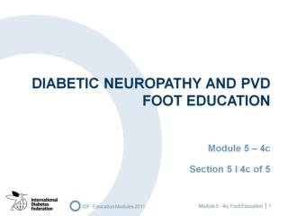 DIABETIC NEUROPATHY and PVD  FOOT EDUCATION
