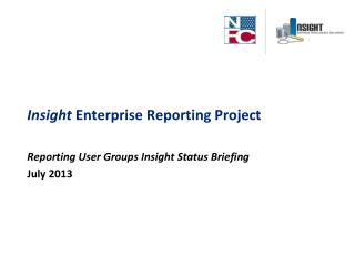 Insight  Enterprise Reporting Project