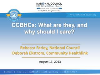 CCBHCs: What are they, and why should I care?
