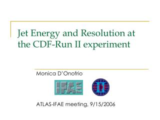 Jet Energy and Resolution at the CDF-Run II experiment