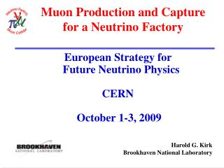 Muon Production and Capture  for a Neutrino Factory
