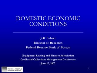 DOMESTIC ECONOMIC CONDITIONS