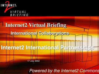 Internet2 Virtual Briefing
