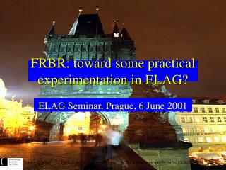 FRBR: toward some practical experimentation in ELAG?