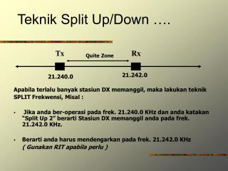 Teknik Split Up/Down ….