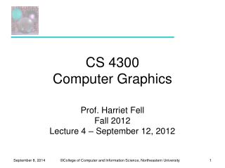 CS 4300 Computer Graphics