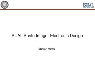 ISUAL Sprite Imager Electronic Design