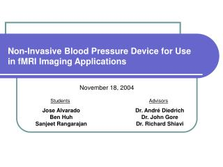 Non-Invasive Blood Pressure Device for Use in fMRI Imaging Applications