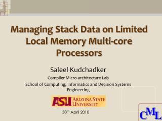 Managing Stack Data on Limited Local Memory Multi-core Processors