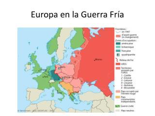 Europa en la Guerra Fría