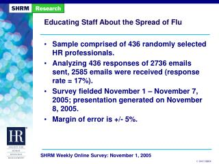 Educating Staff About the Spread of Flu