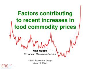 Factors contributing  to recent increases in  food commodity prices