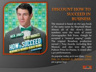 How To Succeed In Business Tickets