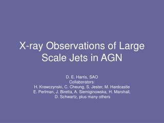 X-ray Observations of Large Scale Jets in AGN