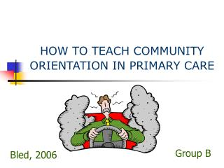 HOW TO TEACH COMMUNITY ORIENTATION IN PRIMARY CARE