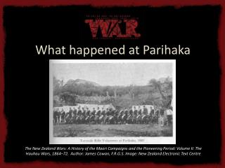 What happened at Parihaka