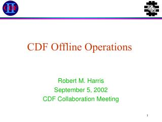 CDF Offline Operations