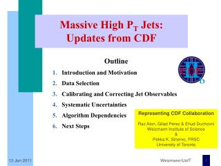 Massive High P T  Jets: Updates from CDF