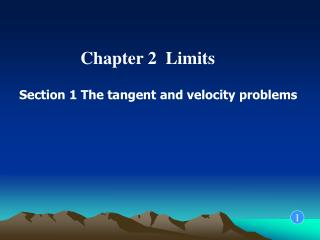 Chapter 2  Limits