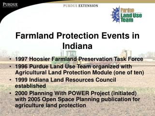 Farmland Protection Events in Indiana