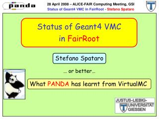 Status of Geant4 VMC in  FairRoot