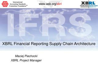 XBRL Financial Reporting Supply Chain Architecture