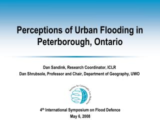 Perceptions of Urban Flooding in Peterborough, Ontario