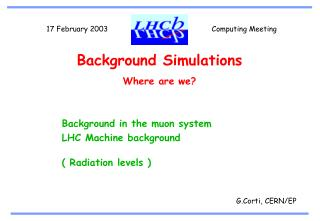 Background Simulations