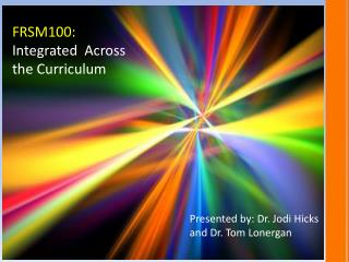 FRSM100: Integrated  Across the Curriculum