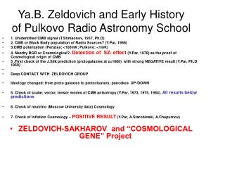 Ya.B. Zeldovich and Early History of Pulkovo Radio Astronomy School