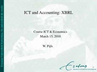 ICT and Accounting: XBRL