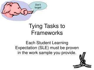 Tying Tasks to  Frameworks