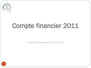 Compte financier 2011