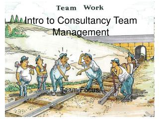 Intro to Consultancy Team Management