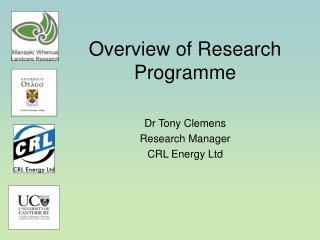 Overview of Research Programme