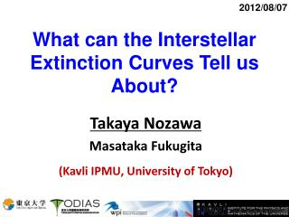 What can the Interstellar Extinction Curves Tell us About?