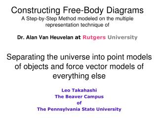 Separating the universe into point models of objects and force vector models of everything else