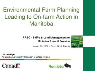 Environmental Farm Planning Leading to On-farm Action in Manitoba