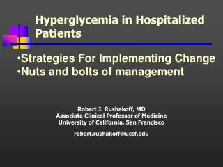 Hyperglycemia in Hospitalized Patients