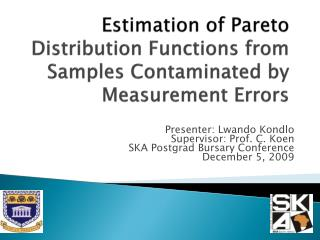 Estimation of Pareto  Distribution Functions from Samples Contaminated by Measurement Errors