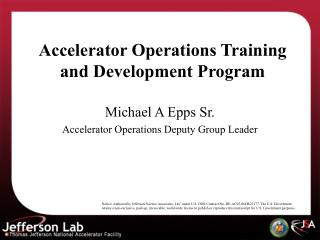 Accelerator Operations Training and Development Program